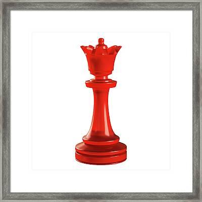 Queen Chess Piece Framed Print by Ktsdesign