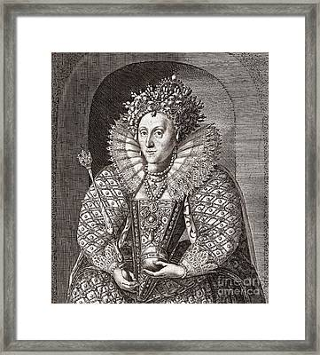 Queen Elizabeth I, English Monarch Framed Print