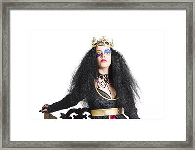 Queen In Black Clothes Framed Print