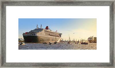 Queen Mary 2 Framed Print by Marc Huebner