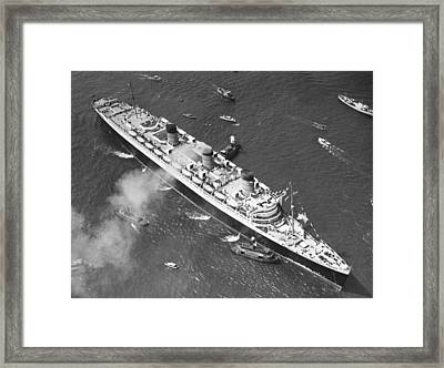 Queen Mary Maiden Voyage Framed Print