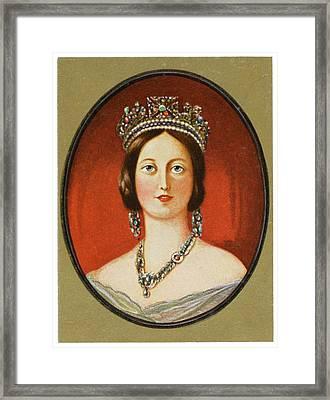 Queen Victoria          Date 1819 - 1901 Framed Print