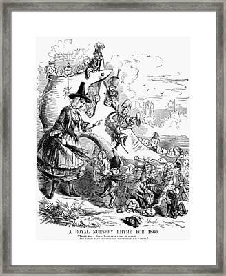 Queen Victoria Cartoon Framed Print by Granger