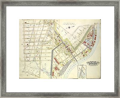 Queens, Vol. 2, Double Page Plate No. 4 Part Of Long Island Framed Print