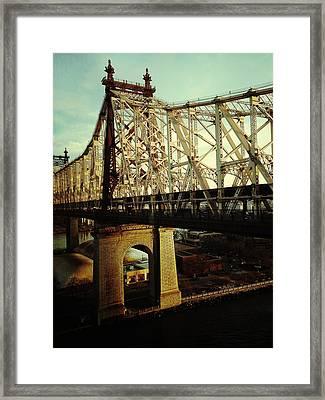 Queensboro Bridge Framed Print by Natasha Marco