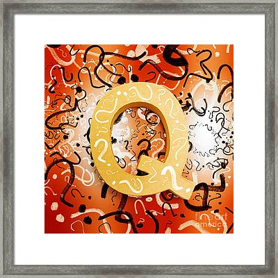 Question Mark Symbols Depicting Puzzle Solving Framed Print by Jorgo Photography - Wall Art Gallery