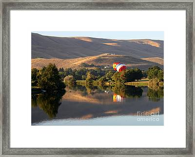 Quiet Morning Reflection In Prosser Framed Print by Carol Groenen