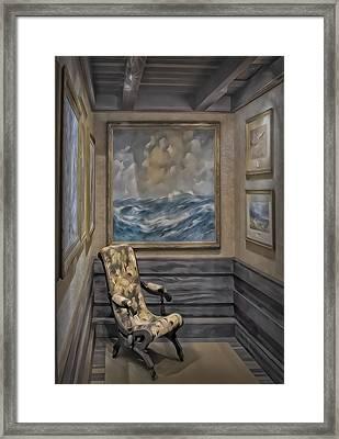 Quiet Room Framed Print by Susan Candelario
