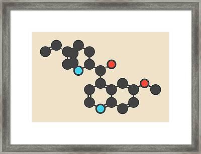 Quinine Malaria Drug Molecule Framed Print by Molekuul