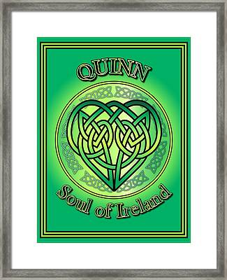 Quinn Soul Of Ireland Framed Print by Ireland Calling