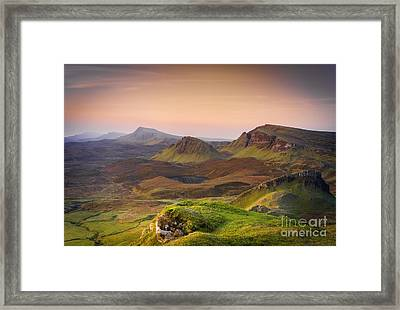 Quiraing Sunrise Framed Print