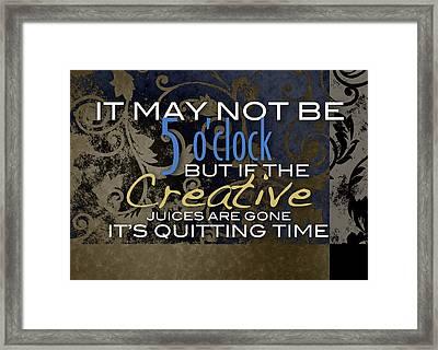 Quitting Time Framed Print