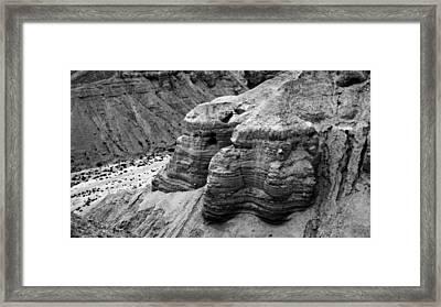 Qumran Cave 4 Bw Framed Print by Stephen Stookey