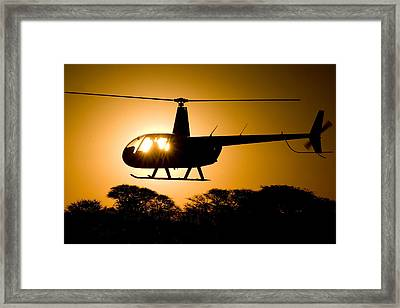 Framed Print featuring the photograph R44 Sunset by Paul Job