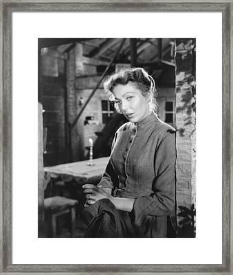 Rachel And The Stranger, Loretta Young Framed Print by Everett