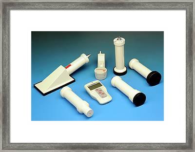Radiation Survey Meter Framed Print by Public Health England