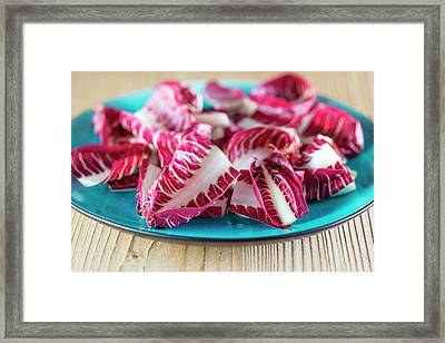 Radicchio Treviso On A Plate Framed Print by Aberration Films Ltd