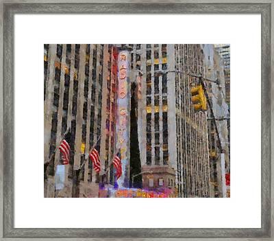 Radio City Music Hall Framed Print by Dan Sproul