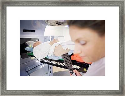 Radiotherapy Treatment Framed Print