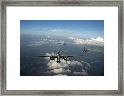 Raf Bostons At Medium Altitude Framed Print by Gary Eason