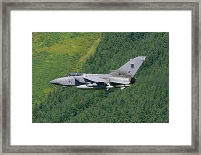 Raf Tornado - Low Level Framed Print by Pat Speirs