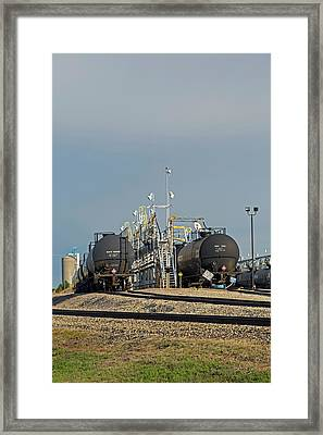 Rail Cars Carrying Lpg Framed Print by Jim West