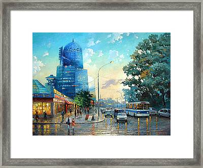 Railroad Station Framed Print
