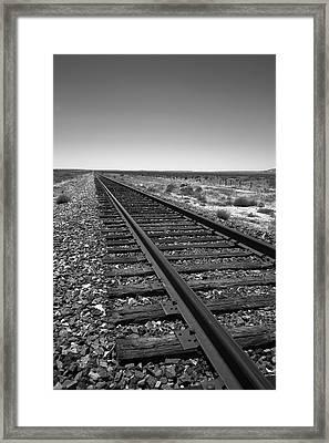 Railroad Tracks Framed Print by Frank Romeo