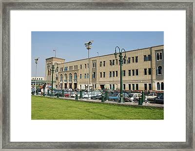 Railway Station Of Mahattat Ramses Framed Print