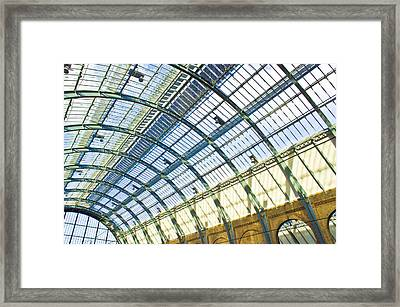 Railway Station Roof Framed Print by Tom Gowanlock