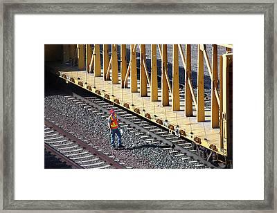 Railway Worker Framed Print by Jim West