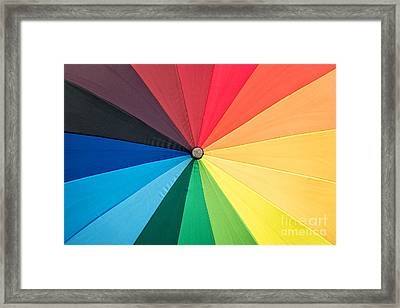 Rainbow Framed Print by Delphimages Photo Creations