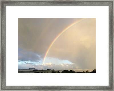 Rainbow  Framed Print by Les Cunliffe
