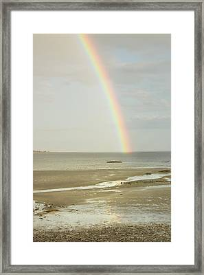 Rainbow Over The Coast Of Maine Framed Print