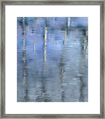 Raindrops On Reflections Framed Print by KM Corcoran