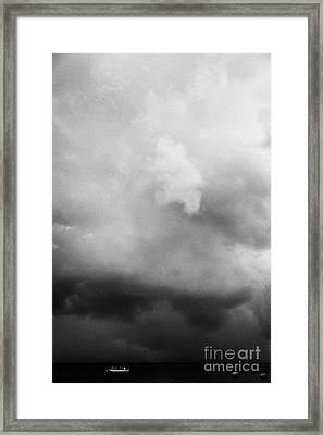 Rainstorm Thunderstorm Storm Clouds Approaching Key West Florida Usa Framed Print