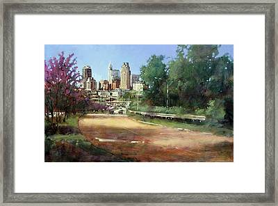 Raleigh Summer Skyline Framed Print