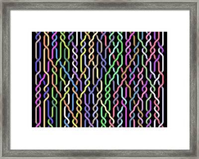 Random Braid 4 Framed Print