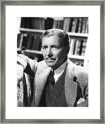 Random Harvest, Ronald Colman, 1942 Framed Print by Everett