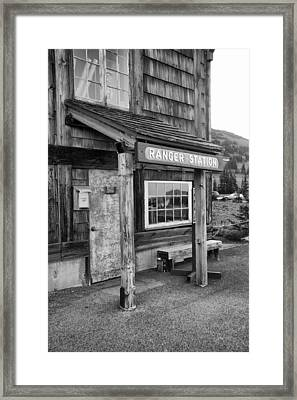 Framed Print featuring the photograph Ranger Station Mount Rainier National Park by Bob Noble Photography