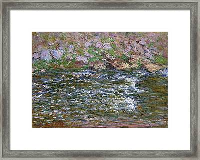 Rapids On The Petite Creuse At Fresselines Framed Print by Claude Monet