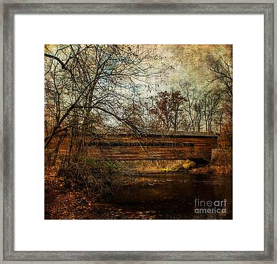 Rapps Dam Covered Bridge Framed Print