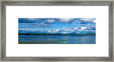 Raquette Lake In The Adirondack Framed Print