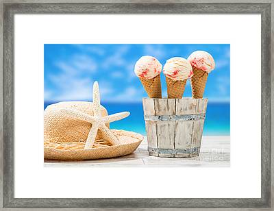 Raspberry Ripples Framed Print