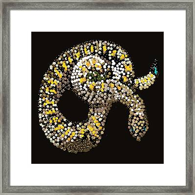 Rattlesnake Bedazzled Framed Print