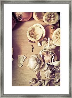 Raw Ingredients Framed Print