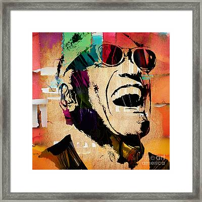 Ray Charles Collection Framed Print