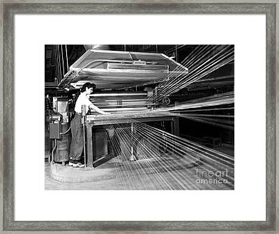Rayon Production, 1950s Framed Print by Hagley Archive
