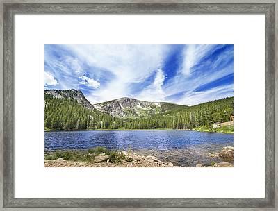 Colorado Mountain Lake Framed Print by Mark Andrew Thomas
