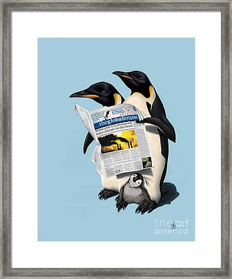 Read All Over Colour Framed Print by Rob Snow